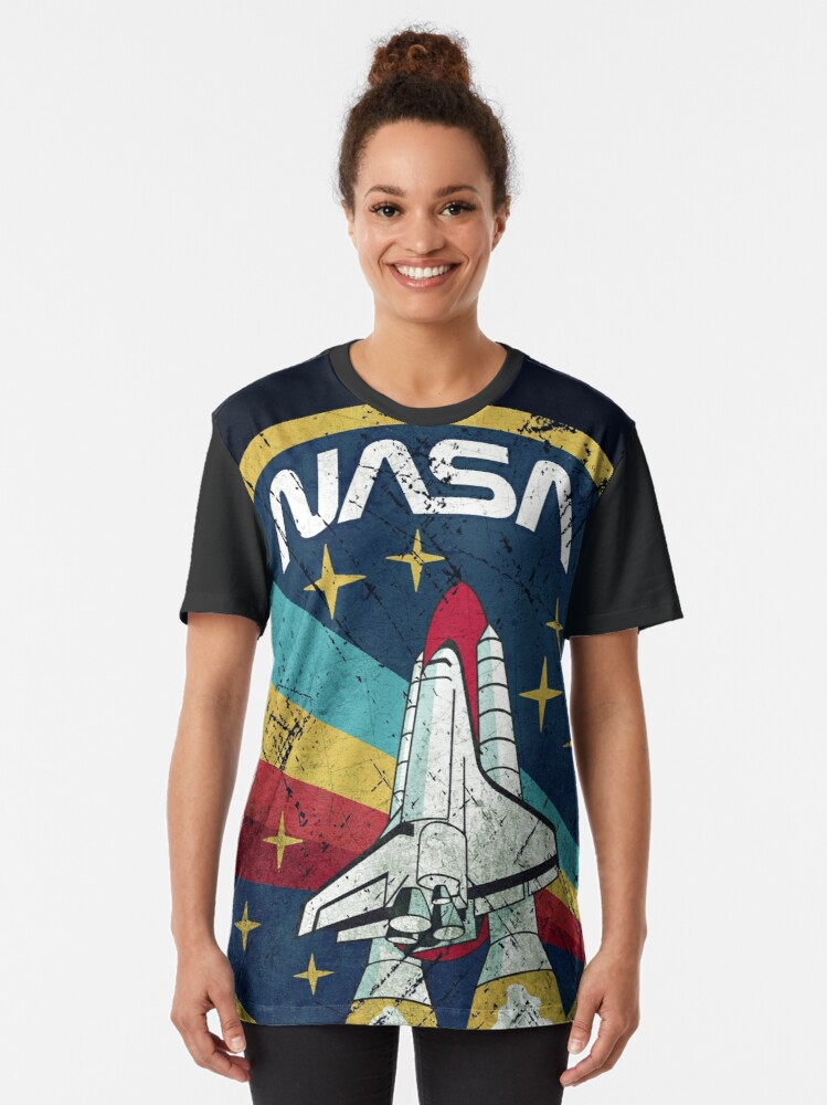 Alternate view of Nasa Vintage Colors V01 Graphic T-Shirt