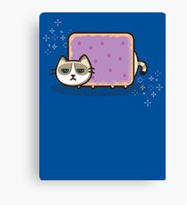 Grumpy Nyan Kitty Canvas Print