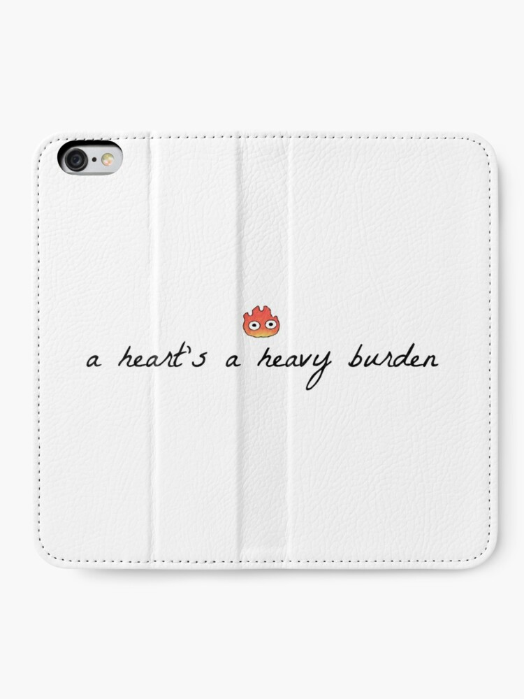 Alternate view of A Heart's A Heavy Burden (Muted) iPhone Wallet