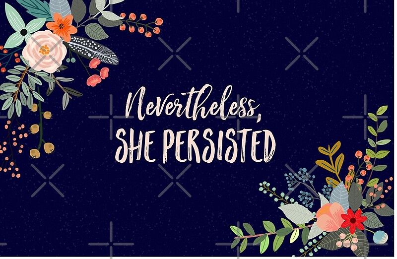 Quot Nevertheless She Persisted Quot Laptop Skins By Kimberlyfaye
