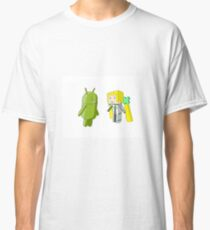 Bugdroid Meets Angel Balzac Classic T-Shirt