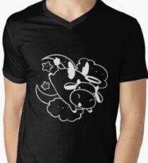 Angel Cow White Line Men's V-Neck T-Shirt