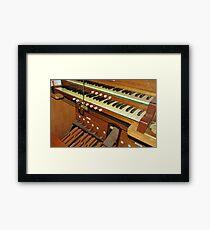 Organ Console Framed Print