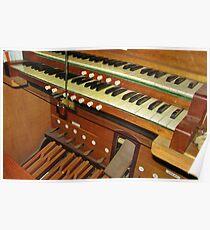 Organ Console Poster