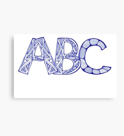 ABC Canvas Print