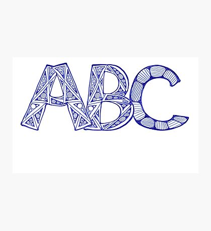 ABC Photographic Print