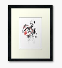 I need a heart to feel complete Framed Print