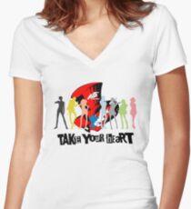 Phantom Thief Silhouette  Women's Fitted V-Neck T-Shirt