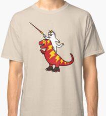 Unicorn Cat Riding Lightning T-Rex Classic T-Shirt