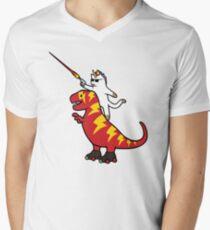 Unicorn Cat Riding Lightning T-Rex T-Shirt