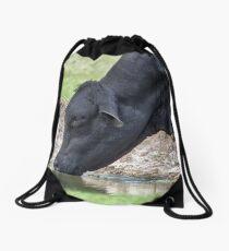 Big Bull Drinking Drawstring Bag