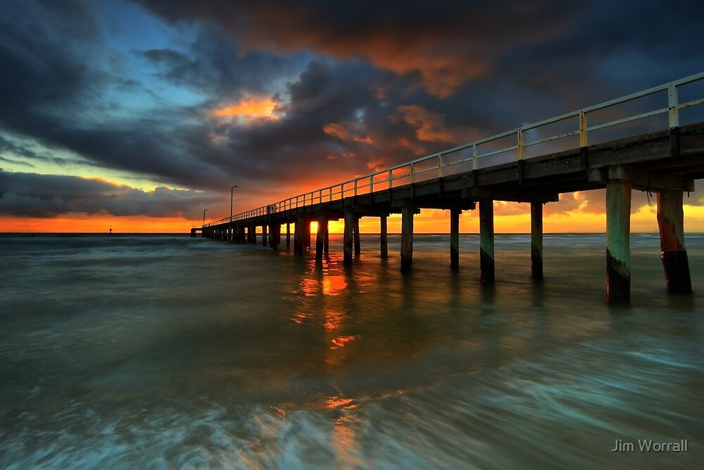 Seaford Pier Sunset by Jim Worrall