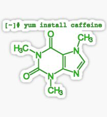 yum install caffeine (terminal colors) Sticker