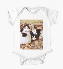 Three Kitties One Piece - Short Sleeve