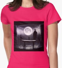 Moonlit Path Womens Fitted T-Shirt