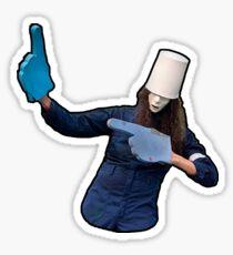 Buckethead Foam Fingers Sticker