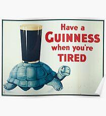 vintage Guinness beer ad Poster