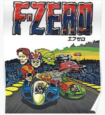 F-Zero (Japanese Art) Poster