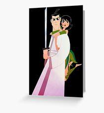 Samurai Jack and Ashi  Greeting Card