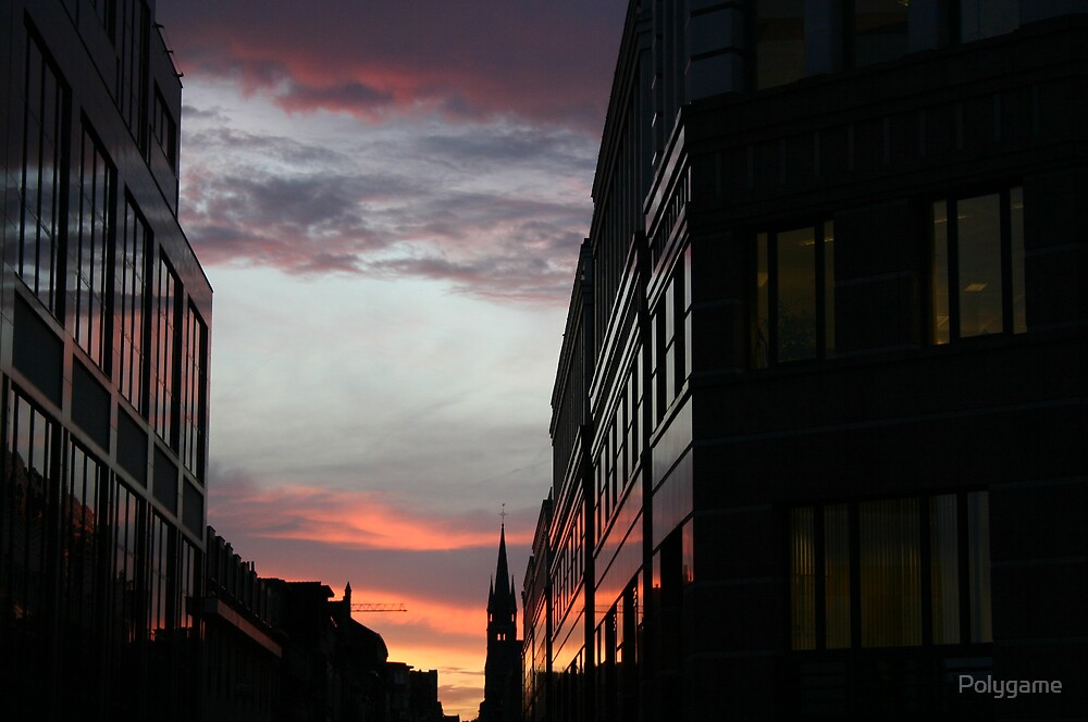 Suunset in Brussels by Polygame