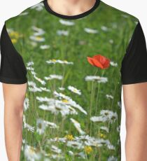 Poppy seed on a meadow Graphic T-Shirt