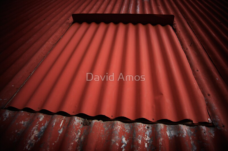 Woolshed window I by David Amos