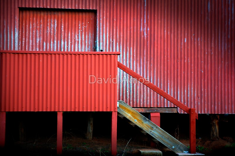 Woolshed window IV by David Amos