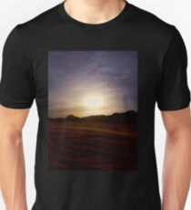 sunset in wadi rum in Jordan T-Shirt