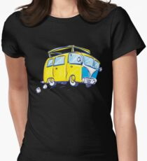 Funny Travel Icons  Womens Fitted T-Shirt