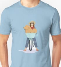 Daisypuff Goes To The Beach Unisex T-Shirt