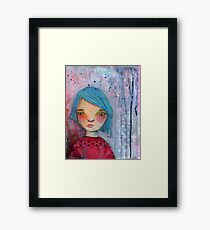The Girl with Blue Hair Framed Print