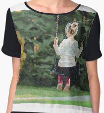 Girl playing outside Chiffon Top