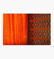 Tangerine Screen Photographic Print