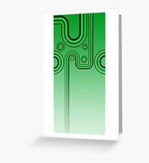 Groovy Retro Green 60s Pattern by Moose Disco Greeting Card