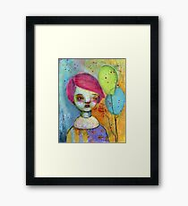 The Girl who is a Clown Framed Print