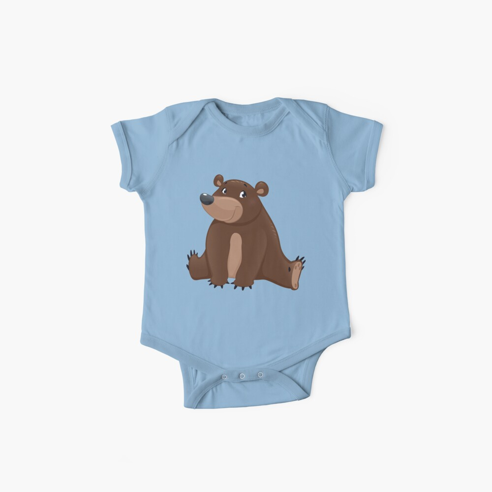 Deluxe Grizzly oder Braunbär Cub Print Baby Bodys