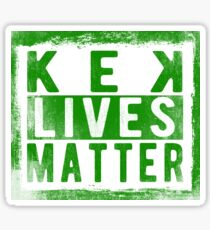 KEK Lives Matter Sticker