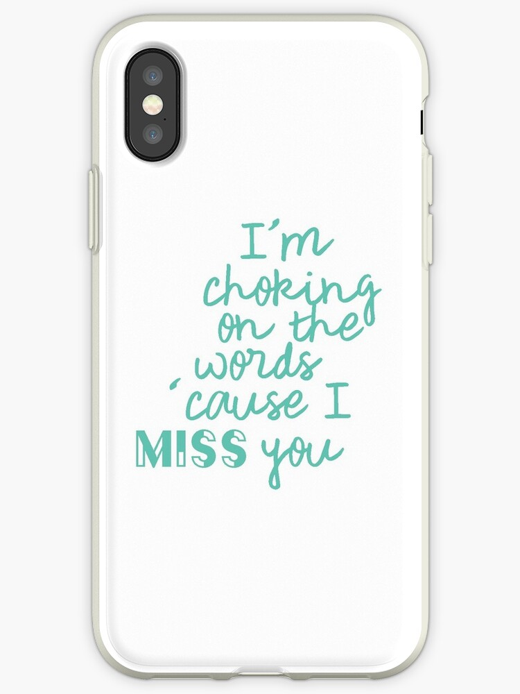 'The Vamps - Middle of the Night Lyrics' iPhone Case by Alice Hunt