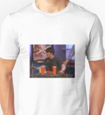 "DRAKE AND JOSH - Drake quote ""so my foots totally stuck in there right, I'm freaking out, the dog's having a seizure and I still got half a pie left.""  Unisex T-Shirt"