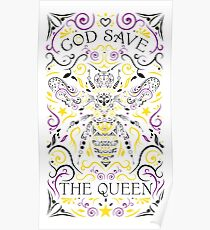 god save the queen bee Poster