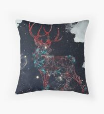 Celestial Deer Throw Pillow