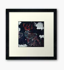 Celestial Deer Framed Print