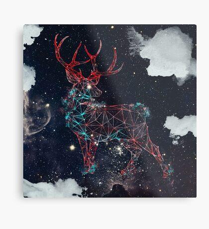 Celestial Deer Metal Print