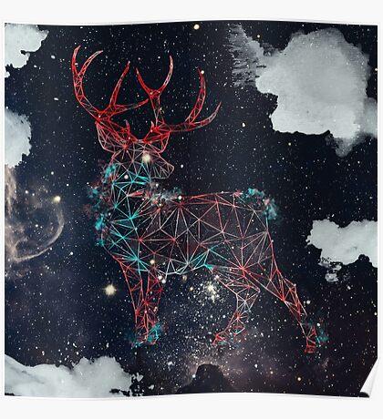 Celestial Deer Poster