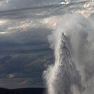 Old Faithful, the Crowd Cut Out by Chase Ankeny