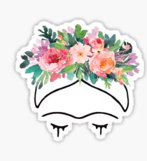 Frida Kahlo Flowers Sticker