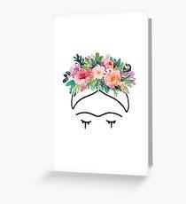 Frida Kahlo Flowers Greeting Card