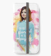 Run You Clever Girl - Clara Oswald iPhone Wallet/Case/Skin