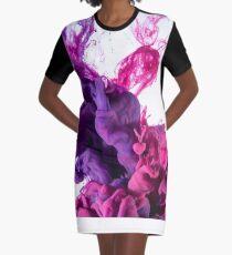 Hi Lovely Lila Pink Graphic T-Shirt Dress