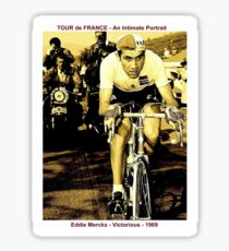 TOUR de FRANCE: Vintage Eddie Merckx Victory Print Sticker
